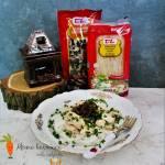 Makaron ryżowy z grzybami mun