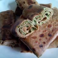 Naleśniki razowe ze szpinakiem i  serem