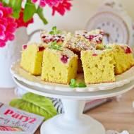 Ciasto jogurtowe z malinami i cytrynową kruszonką