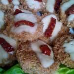 Cukinia panierowana z mozzarellą i suszonym pomidorem