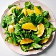 Sałatka ze szpinakiem i pomarańczami
