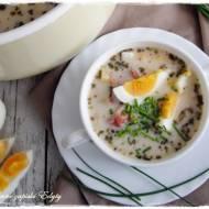 Zupa chrzanowa na szynce dojrzewającej