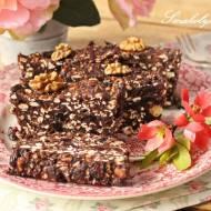 Blok czekoladowy z ekspandowanymi ziarnami zbóż