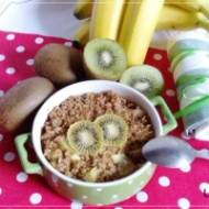 Orkiszanka pieczona z kiwi i bananem