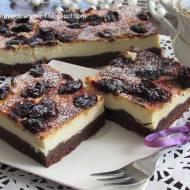 Sernik na czekoladowym spodzie