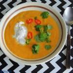 Zupa krem ze słodkich ziemniaków