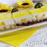 Ciasto cytrynowe na gofrowy spodzie