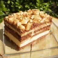 Pyszne ciasto Snickers bez pieczenia z mlekiem w proszku :-)