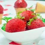 lody/ sorbet truskawkowy z tymiankiem