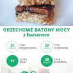ORZECHOWE BATONY MOCY z bananem – FIT przepisy