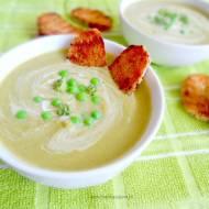 Zupa- krem z brokułów i zielonego groszku