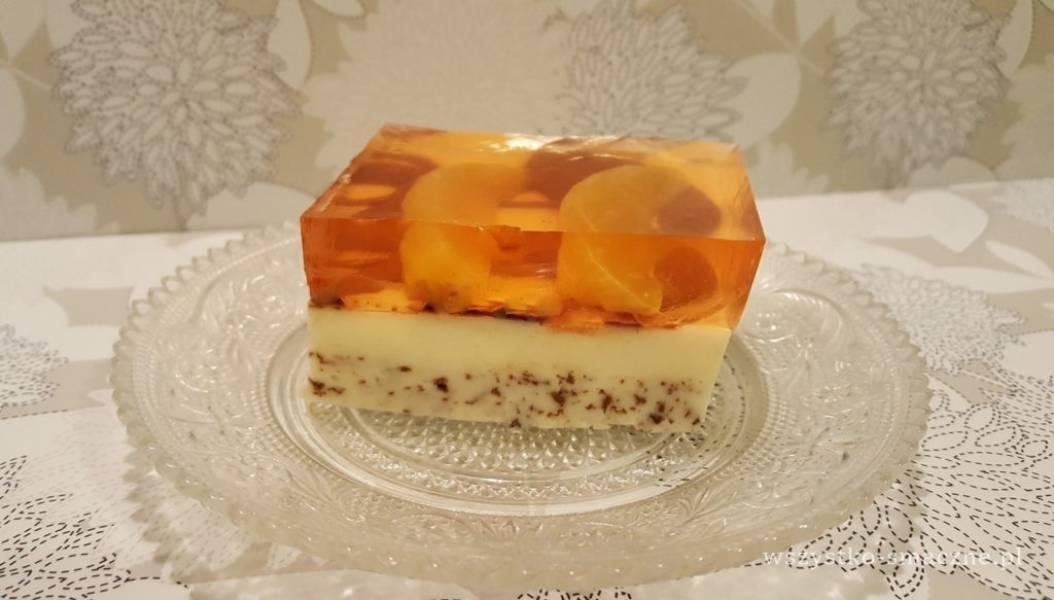 Sernik na zimno z mandarynkami i czekoladą