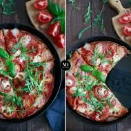 Zdrowa pizza orkiszowa z mozzarellą
