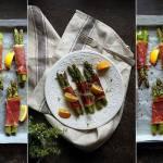 Zielone szparagi zapiekane z szynką parmeńską