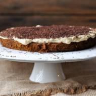 Marchewkowe brownie z wegańskim mascarpone (bezglutenowe, wegańskie, bez cukru)
