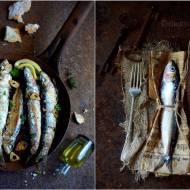 Smażone sardynki czosnkowo-ziołowe