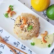 Smażony ryż z ananasem i nerkowcami