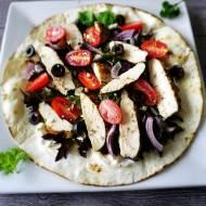 Tortilla z kurczakiem po grecku