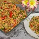 Kaszka Kuskus z Cieciorką i Pomidorami - Sałatka z Kaszką Kuskus