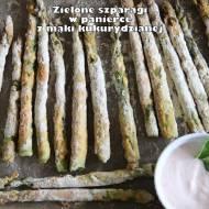 Zielone szparagi w panierce z mąki kukurydzianej