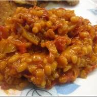 Pomidorowo - paprykowe pęczotto