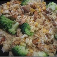 Ryż z kurczakiem i brokułami