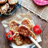Placki z pieczarkami i suszonymi pomidorami