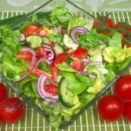 Sałatka z Zieloną Sałatą  do Obiadu lub na Grilla