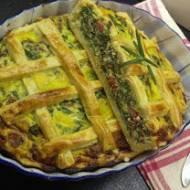 Włoskie pyszności- czyli pizza rustica z ricottą i szpinakiem