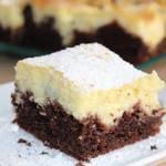 Szybki cytrynowo-czekoladowy sernik bez sera