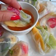 Owocowe spring rolls