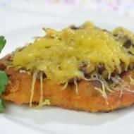 Schabowy z serem żółtym i pieczarkami + film