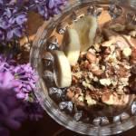 Jogurtowe lody bananowo-orzechowe; domowe lody jogurtowe