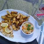 Tymiankowa sola z pieczonymi ziemniakami i kapustą kwaszoną
