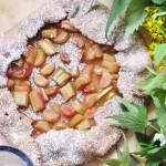 Rustykalna tarta pełnoziarnista z rabarbarem   bez cukru, bez laktozy  