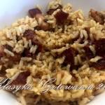 Ryż z kurczakiem, boczkiem oraz suszonymi pomidorami