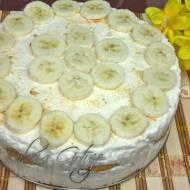 Deser  Bananowy - Sernik na Zimno z Bananami