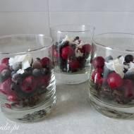 Deser czekoladowo-owocowy