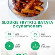 Słodkie FRYTKI Z BATATA z cynamonem 🍟👌