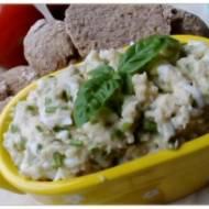 Pasta z białych szparagów i kaszy jaglanej