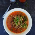 Wegańska zupa z boczniaków i kaszy jaglanej