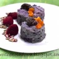 Lekkie śniadanie : Borówkowo-ryżowe krążki  słodzone rodzynkami (Vege & White sugar free)