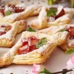 Ciastka francuskie z rabarbarem