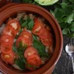 Zapiekanka z młodych ziemniaków i kapusty