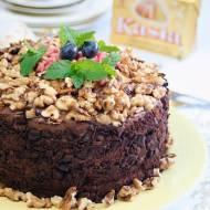 Tort czekoladowy z orzechami na Światowy Dzień Pieczenia z Kasią