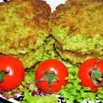 Kotlety z brokuła i kaszy jaglanej