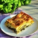 Makaron lasagne ze szpinakiem i cukinią pod beszamelem
