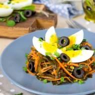 Sałatka z laminarią i jajkiem