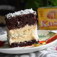 Ciasto kokosowo - chałwowe i Światowy Dzień Pieczenia z Kasią