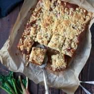 Ciasto z rabarbarem i kruszonką – bez miksera